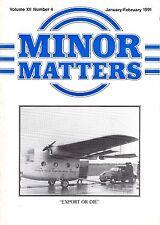 "MORRIS MINOR OWNERS CLUB MAGAZINE - ""MINOR MATTERS"" (January/February 1991)"