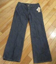 Womens Size 10 Michael Kors Flare Leg Indigo Wash Blue Jeans Denim Lightweight