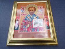 grande icone russo de saint Nicolas dipinto su porcellana Heinrich 3