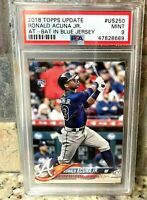 2018 Topps Update #US250 Ronald Acuña Jr. Braves RC PSA 9 MINT Rookie Card