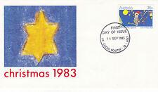 Australia 14 de septiembre de 1983 Navidad Oficial Primer Día Cubierta Shs