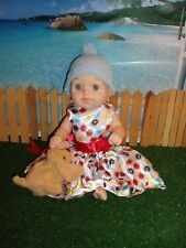"GEOFFREY BABY DOLL (14"") WITH NEW DRESS & FURREAL FRIENDS SNUGIMAL PUPPY"