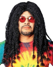 Black Adult Long Rasta Hippie Dreadlocks Wig Costume Accessory