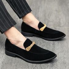 Zapatos para hombre novio Negocios Formal Oxford Imitación Gamuza Slip On Puntera en Punta de boda