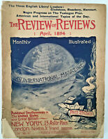 VINTAGE MAGAZINE 1894 The Review of Reviews April US & UK  ILLUSTRATED MONTHLY