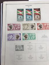 Burundi: 10 Scott's Album Pages From 1962 To 1977 with 97 diff.. Lot # 05243