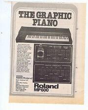 ROLAND MP 600 ADVERT  press clipping 1979 (28/04/79)