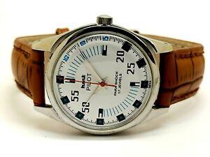 genuine hmt pilot manual winding men steel 17 jewel vintage watch working order