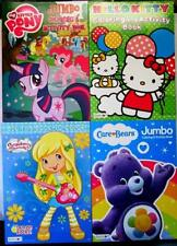 4 Girls Coloring Book Classic Strawberry Shortcake Hello Kitty Care Bears