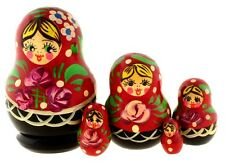 Hand Made &painted Russian Matrioshka Nesting Dolls Set Of 5 Collectible