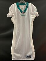 MIAMI DOLPHINS GAME USED REEBOK BLANK ON FIELD WHITE  JERSEY SIZE 42 YEAR 2011