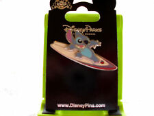 Disney * STITCH on SURFBOARD - SURFING * New on Card Character Trading Pin