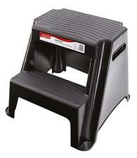 Rubbermaid RM-P2 2-Step Molded Plastic Stool with Non-Slip Step Treads 300-Pound