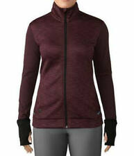 Adidas Women's ClimaHeat Wool Full-Zip Jacket Red Night - NEW! 2019