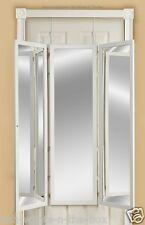 Mirror Hanging Full Length Three Way Panel Over-the-Door 4-n-1 Dressing Room Pro