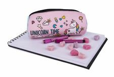 UK Free Delivery Cylindrical Unicorn Pencil Case, Make Up, Jewellery Pouch Bag