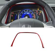 Red Carbon Fiber Speedometer Upper Decoration Trim Cover For Honda Civic 8th Gen