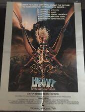 1981 Heavy Metal Original Taarna Movie Poster Achilleos Art Original 24.5 x 18