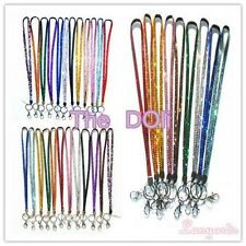 New Multi Color Rhinestone Neck LANYARD Keychain Key/ID/Cell Phone Holder BLING