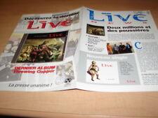 LIVE - I ALONE!!!!!!!!!!!!!!!!!!!!RARE FRENCH PROMO BIO