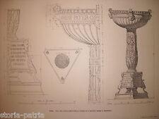 ARCHITETTURA_ROMA_GIANICOLO_CHIESA DI S. ONOFRIO_ACQUASANTIERA_SCULTURE E FREGI