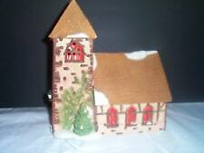 CHRISTMAS DEPT.56 DICKENS VILLAGE CHURCH RETIRED-1989 WITH RED LIGHT BULB