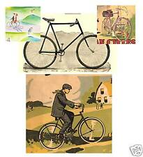 67 VINTAGE Bicycle ADS 1880-1950 CD of Images To Print Your Own For Display