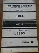 Other English Clubs Rugby League Programmes (1960s)