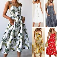Women Summer Boho Long Maxi Evening Party Cocktail Beach Dress Sundress Charming