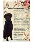 10 Canine Commandments Vintage Poster, 10 Canine Commandments Art Print Unframed