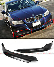 CARBON FIBER FRONT BUMPER SPLITTERS FOR BMW E90 E91 LCI 3 SERIES REGULAR BUMPER