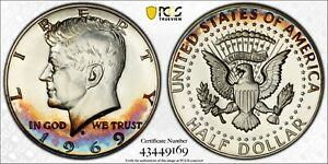 1969 S Kennedy Half Dollar PCGS PR67 CAM Album Toned Silver Proof Registry Coin