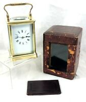 STUNNING STRIKING CHS GORGE CASED CARRIAGE CLOCK ** FULLY WORKING **