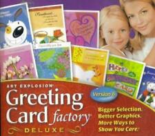 Art Explosion: Greeting Card Factory 6 Deluxe w/ Manual PC CD create own designs