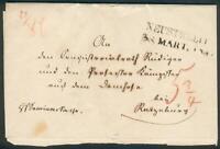 Mecklenburg-Strelitz, Altbrief Neustrelitz-1847 Domhof bei  Ratzeburg, top
