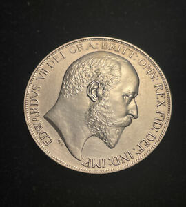 1902 Edward VII Proof Crown Silver Coin