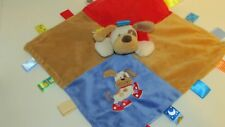 Taggies puppy dog red shoes sneakers security Blanket blue tan baby lovey