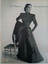1946 Ceil Chapman Bergdorf Goodman women's evening gown dress Celanese fabric ad