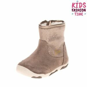 GEOX RESPIRA Kids Leather Boots EU 18 UK 2.5 US 3 Breathable Thermal Insulation