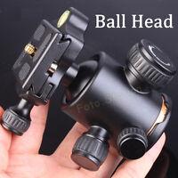 Professional Camera Tripod Ball Head & Quick Release Plate For Manfrotto Velbon