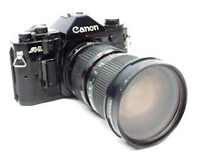 Canon A-1 35mm SLR Film Camera Black W/ Canon Zoom 35-105mm 1:3.5 Lens