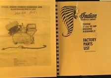 Indian Motorcycle. Set Of  2 Manuals For F500K 8-10 HP Engine Owners  & Parts