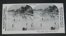 STEREOVIEW  SUMMER CROWDS ATLANTIC CITY N.J. REPRINT 1978