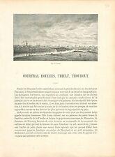 Courtrai, Roulers, Thielt, Thourout Eglise de Zuid-Wervik GRAVURE OLD PRINT 1880