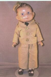 IDEAL'S SOLIDER BOY DOLL 2 DIFFERENT BODIES SUIT PATTERN FREE SHIP FOR USA