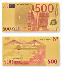 ☆ 500 Euro Schein ☆ 24k vergoldet (1) ☆ Sammlerstück mit Zertifikat ☆