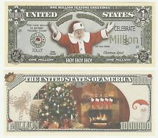 USA United States 1 Million Dollars 2014 NEW Fantasy XMAS Santa Claus Banknote