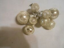 antique mercury ornament Christmas corsage / decoration wrapped in mesh wire