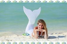 THE2TAILS™ Adult Sparkle White Swimmable Mermaid Tail Affordable with Fin