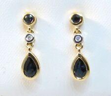 Pear Sapphire Natural Not Enhanced Fine Earrings